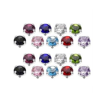 18pc Colored Jeweled Dermal Tops