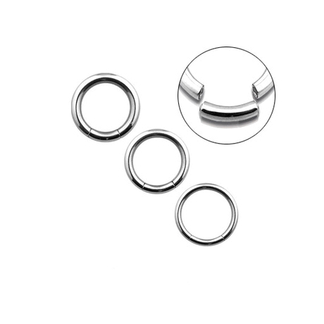 Segment Ring Jewelry Black Anodized Over Surgical Steel 12mm