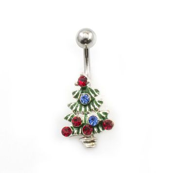 Pack of 4 Holiday Belly Button Rings with Gift Box #2