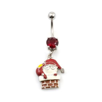 Pack of 4 Holiday Belly Button Rings with Gift Box #3