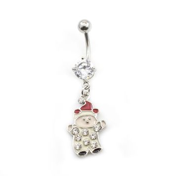 Pack of 4 Holiday Belly Button Rings with Gift Box #4