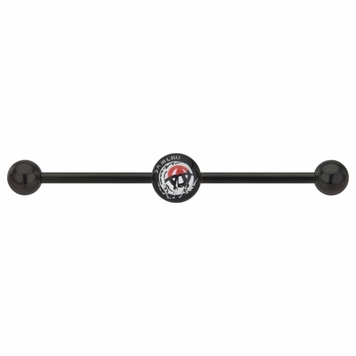 "Anodized Titanium Anarchy ""A"" SAMCRO Industrial Barbell 14g"