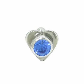 Barbell Tongue Ring Surgical Steel with Heart and Jewel Design