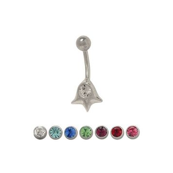 14 gauge Belly Ring Surgical Steel with Jewel
