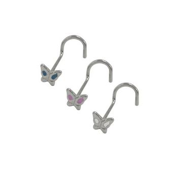Butterfly Nose Stud Surgical Steel 18g