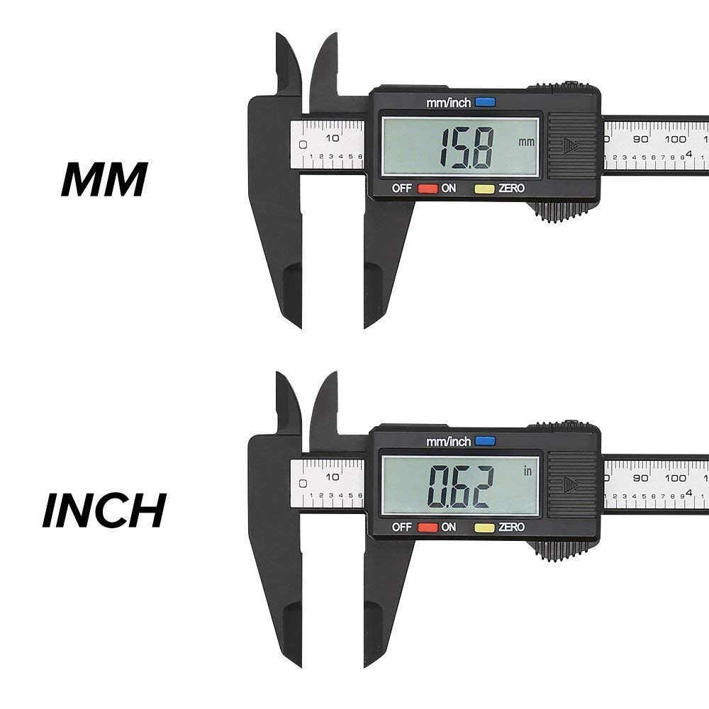 Digital Caliper with Large LCD Screen 0-6 In//0-150 mm battery included