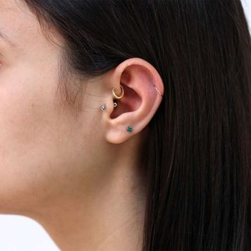Cartilage Earrings Barbell Tragus Helix Piercing Jewelry 14G