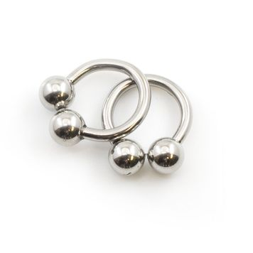 Pair of Horseshoe Jewelry 12g Fit in Cartilage, Nipple, Tragus, Rook