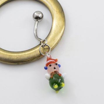 Christmas Elf Dangle Belly Ring -14g