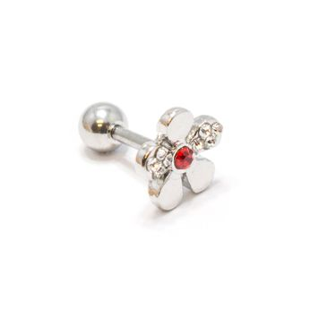 Holiday Pack of  4-  Cartilage Tragus Helix Barbells Assorted Designs + Free Gift Box Included