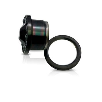 CZ Centered Black Surgical Steel Screw Fit Plugs- Sold as a Pair