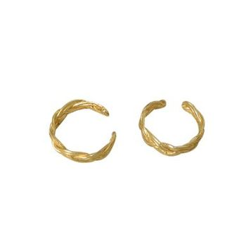 Pair of Ear Cuffs 14k Gold Plated, Unique Design