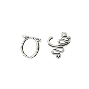 Pair of  Ear Cuffs Sterling Silver - Snake Shape Design