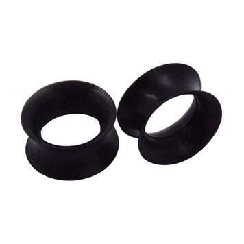 Ear Plugs/Tunnels Sold by Pair Made of Soft Thin Silicone Flexible Expanders Gauges Hollow Body Piercing