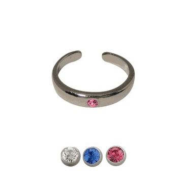 Gem Silver Coated Toe Ring