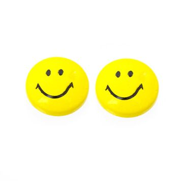 Pair of Smiley Face Design Magnetic Earrings 6mm