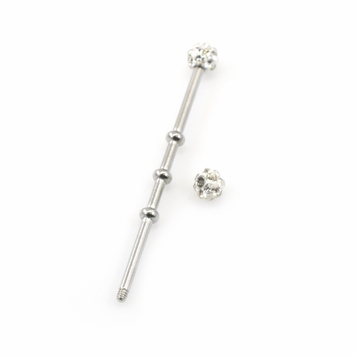 Industrial Barbell with Ferido Ball 14G  1 1/2 in -38mm