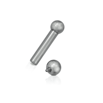Internally Threaded Surgical Steel Straight Barbells 4 Gauge 7/8 -22mm - Pair