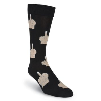 Pair of  Men's Middle Finger Socks