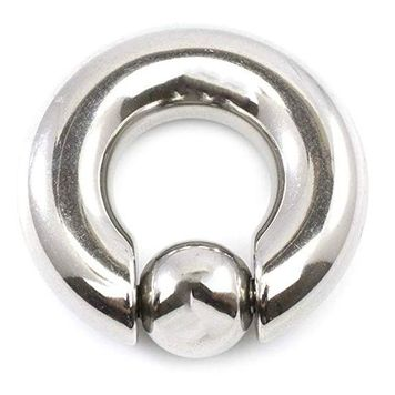 316L Surgical Steel Captive Bead Ring Large Gauge 0ga 00ga