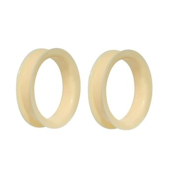 Large Gauge Peach Ultra Soft Double Flare Tunnel Plugs (1 1/8inch to 1 7/8inch)