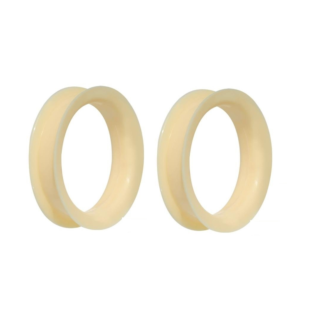 Ultra Soft Black Flexible Silicone Double Flared Tunnel Plugs Available in Multiple Sizes Sold as a Pair