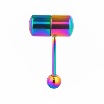 Anodized Steel Multi-Color Vibrating Tongue Ring