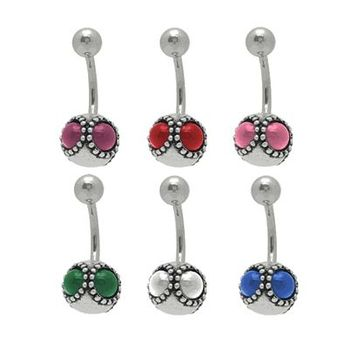 14 gauge Multi Jeweled Belly Button Ring
