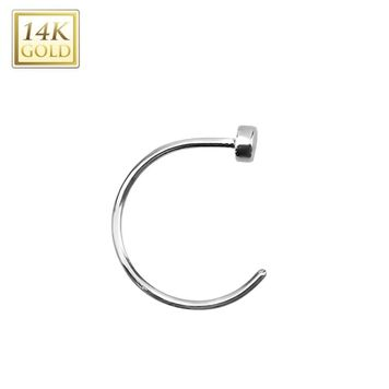 "Nose Hoop 14k Solid Rose Gold or 14k Solid White Gold 22 Gauge 5/16""- 8mm"