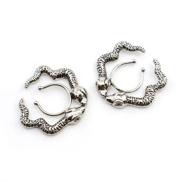 Pair of Nipple Clips No piercing Jewelry with Snake Design