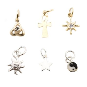 Nail Tip Jewelry Pack of 6 Multiple Designs Available