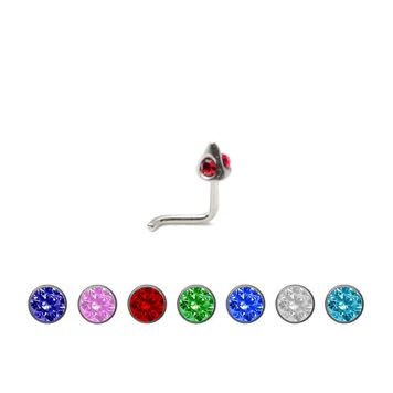 Nose Stud .925 Sterling Silver  with Jewels