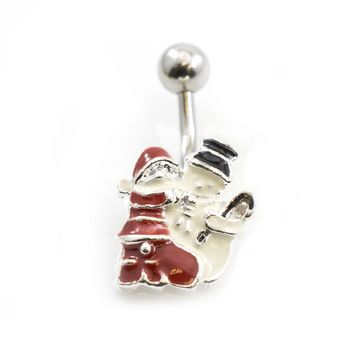Create your own Pack of 3 Christmas Inspired Belly Button Rings 14g- Choose Your Designs + Free Gift Box