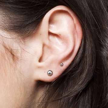 Pair of  Ear Stud with Ball Implant Grade Titanium