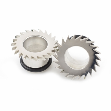 Pair of Single Flared Saw Blade Design Plugs w/ 0-Rings