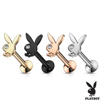 Internally Threaded Labret, Monroe, Ear Cartilage Playboy Bunny with CZ Eye Top 316L Surgical Steel 16ga- Sold Each
