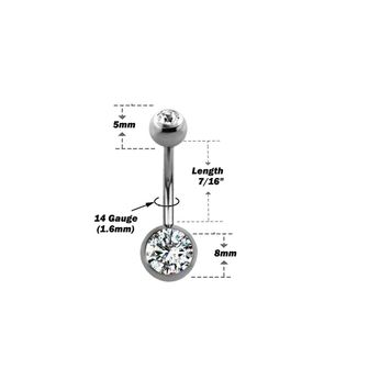 """Piercing Kit Sterilized 316L Surgical Steel Belly Button Ring 14G 7/16"""" Forceps Clamps, Needles, Gloves And Jewelry"""