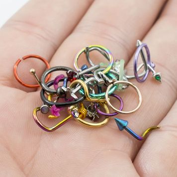 Pack of 24 Nose Rings Randomly Picked 18g and 20g