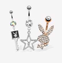 Playboy Belly Rings
