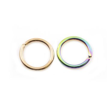 Bendable Annealed  Hoop Ring Anodized Titanium  14ga 7/16 - Sold Each