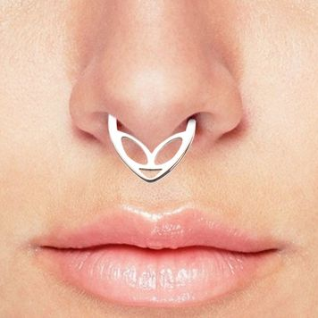 Alien Bendable Hoop Rings For Nose Septum Ear Cartilage, Daith made of  Surgical Steel
