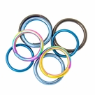 Seamless Segment Rings - 3 Pairs Anodized Titanium - Perfect for Eyebrow, Lip, Nose, Tragus Piercings