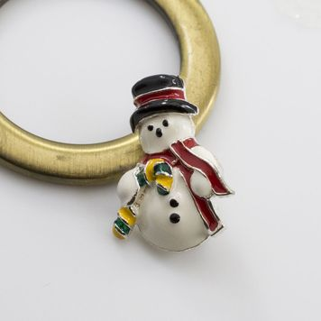 Snowman Reverse Dangle Belly Ring