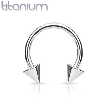Spikes Grade 23 Solid Titanium Horseshoe 16ga 14ga - Sold Each