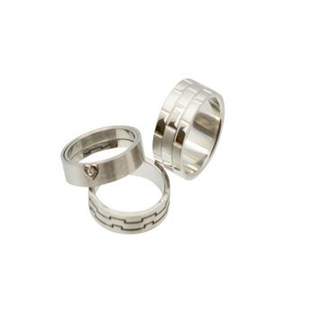 Stainless Steel Rings Assorted Design No Duplicates Randomly Picked- Pack of 6