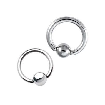 Surgical Steel Ball Closure Ring (2 Gauge)