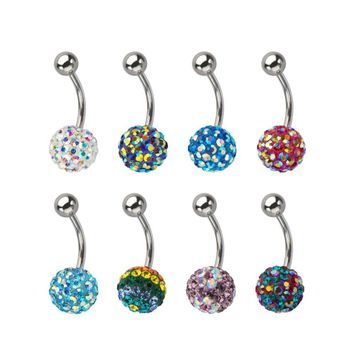 Colorful Ferido Ball 14ga Belly Button Ring