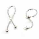 Twist Ring Barbell with Spike or Ball End Design 14G 25 mm