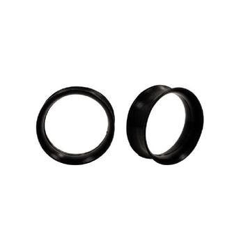Pair of Ultra Thin Flexible Black Flared Silicone Tunnels 32mm
