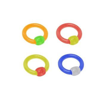 UV Acrylic Captive Ball Closure Rings (8 Gauge)